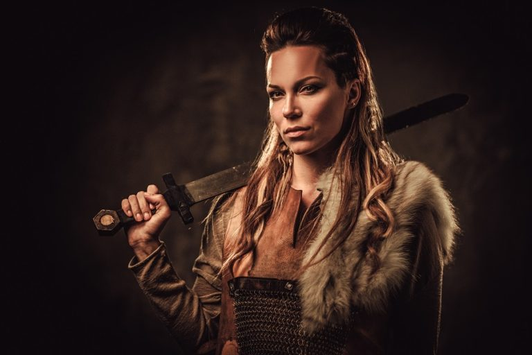 Viking woman with a sword