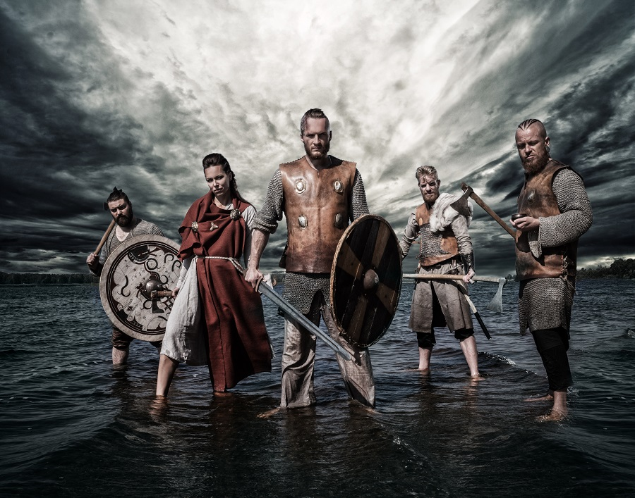 A group of Viking warriors
