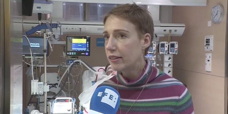Audrey Schoeman gives an interview