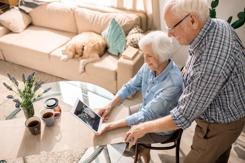 modern elderly couple